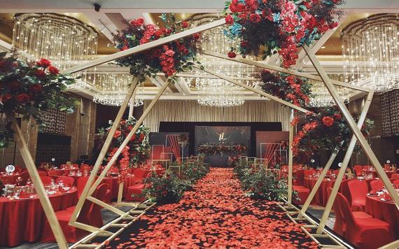6999红黄色西式简洁婚礼
