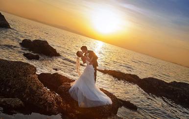 环岛式取景拍摄 5天4晚  送婚纱 一价全包