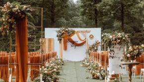 复古风格户外婚礼-含五大金刚