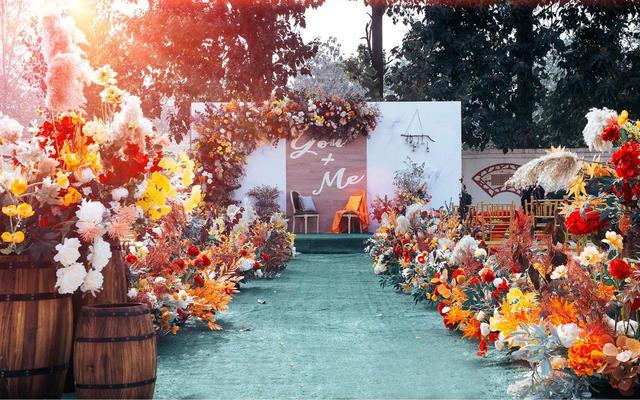 【橙果婚礼】和秋季最搭配的户外婚礼