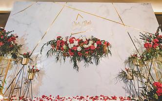 【室內儀式布置】簡約大理石紋/紅金色系/典雅大方