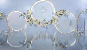 清新、雅致、静谥蓝《无限爱》一场纯粹梦幻蓝色婚礼
