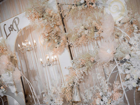 梦幻香槟套系,小型婚礼之选,布置部分(不含四大)