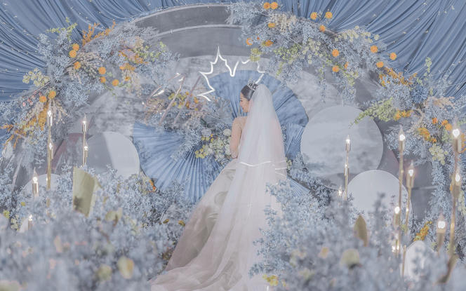 【伯妮】雾霾蓝超浪漫创意欧式婚礼