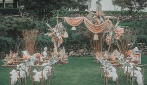 小清新户外婚礼含司仪化妆摄影摄像