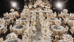 香槟金奢华婚礼 花艺效果满分