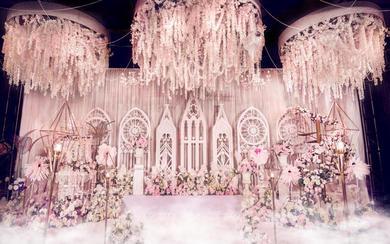 【一颗红豆】粉色系婚礼《我们的十年》 唯美