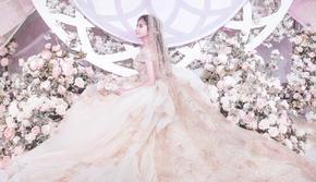 启东环球酒店 粉色唯美婚礼 梦公园婚礼企划