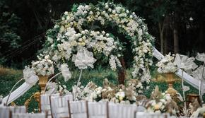 【姜爱婚礼】清新白绿色森系草坪婚礼