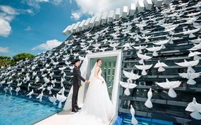 【爱旅拍】巴厘岛婚纱摄影旅拍 码头街拍沙滩悬崖 四对一服务