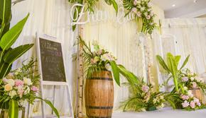 室内小预算清新鲜花森系婚礼