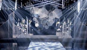 銀白色戶外婚禮創意性的設計風格