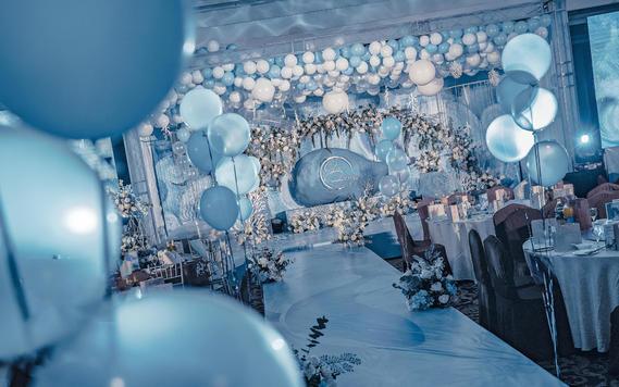 浪漫蓝色海洋风婚礼 包四大
