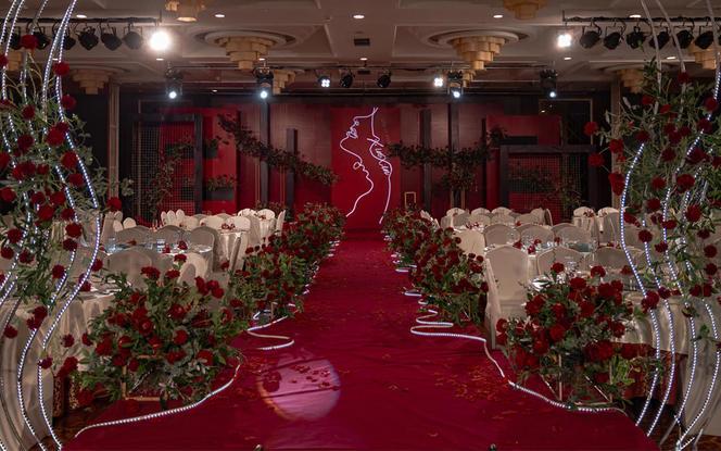 【晶莹婚礼】酒红色创意婚礼 有视频真实客片