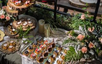 60人定制风格婚礼甜品台套餐