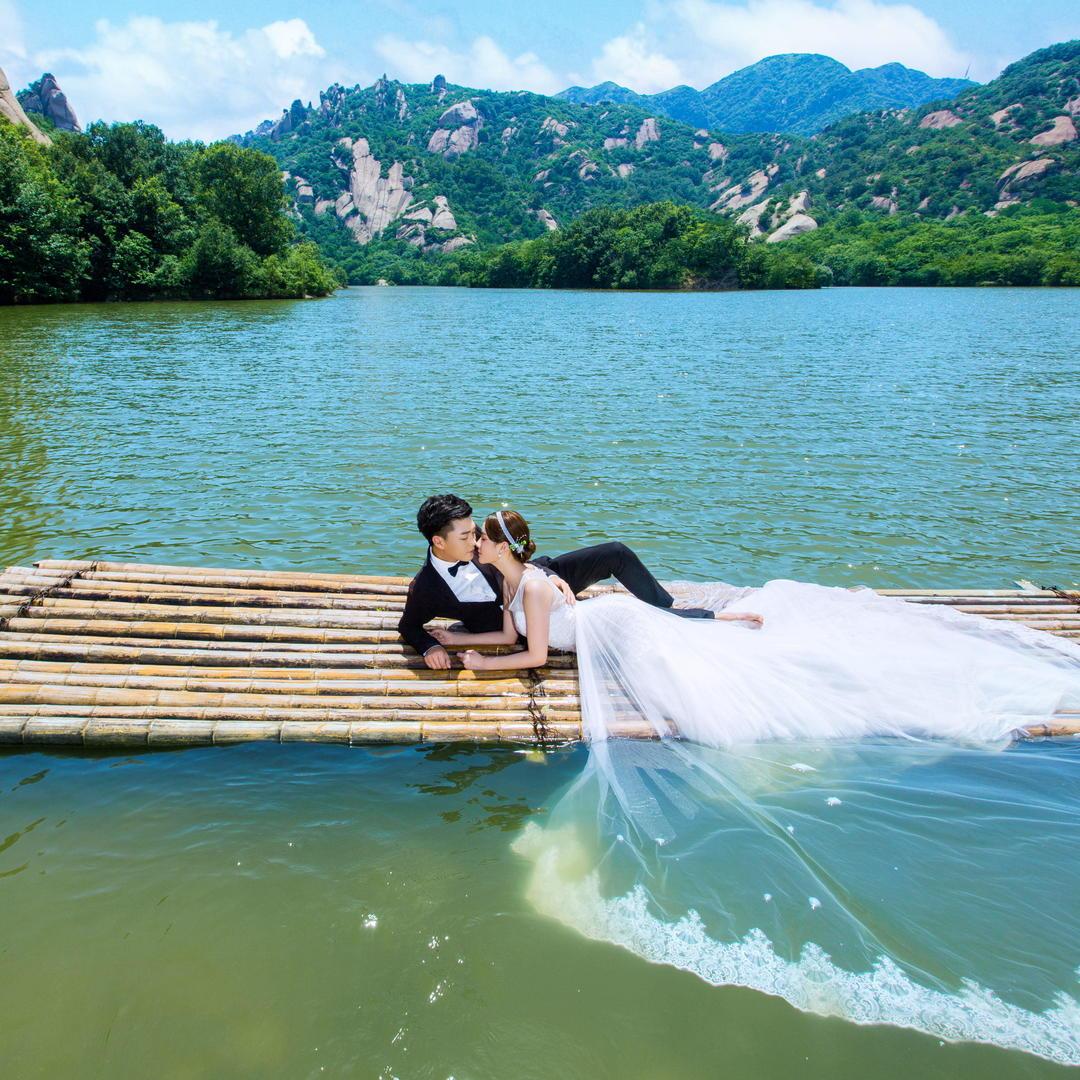 嵖岈山风景 真山真水婚纱照拍摄地