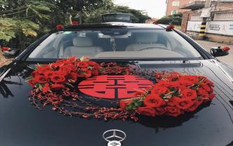 丽江古城 婚礼婚车装饰 新娘手捧花 888套餐