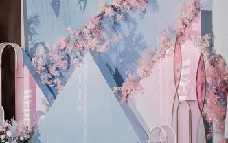 【喜尔婚礼】 柔和蓝粉 简约大气