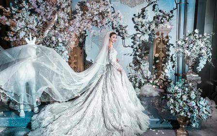 超浪漫蓝色欧式宫廷风婚礼
