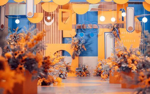 「橙色」橙蓝撞色 · 沁亭