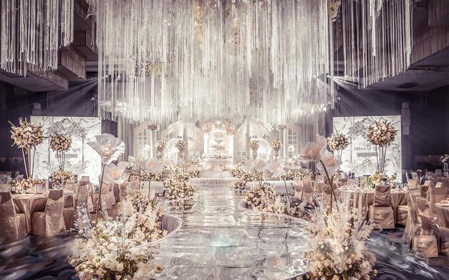白色欧式奢华婚礼现场策划