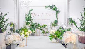 【麒麟宴会】清新森系/白绿色系婚礼