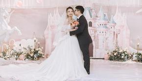 粉色城堡主题婚礼少女心