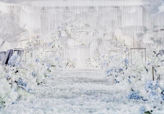 【囍记·婚礼】蓝白色小清新淡雅室内婚礼