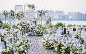 [和声] 白绿色森系温馨婚礼 滨江喜来登
