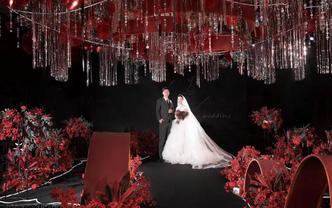 飞凌婚礼丨华丽勃艮第红  红黑个性风  春季钜惠