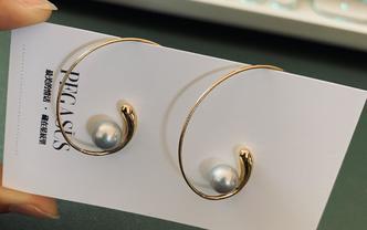 【阿芙洛狄忒】法式优雅·海水珍珠耳环·14K注金