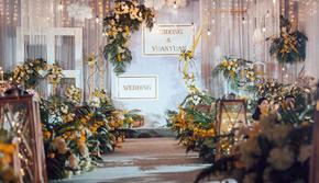 百年好合--大气吊顶装饰+仪式舞台区全场婚纱任选
