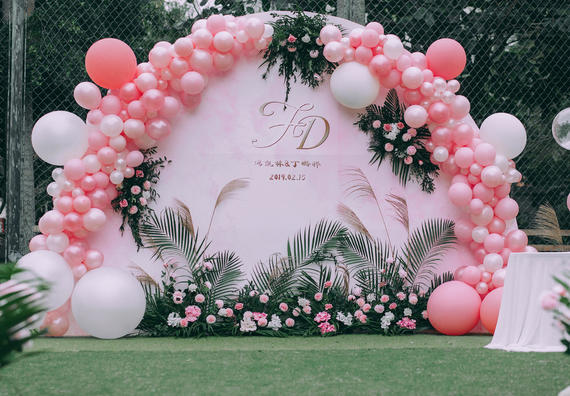 浪漫粉气球婚礼-少女时代最绮丽的向往