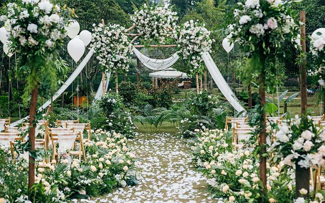 【梦梵婚礼】6折户外ins风草坪婚礼包含四大金刚