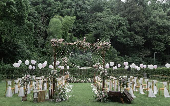 【丽芙】超值绿色软糯森系风户外草坪婚礼