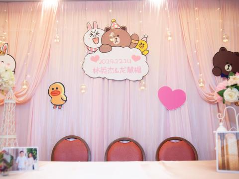 【千色阁】幸福约定婚礼套餐【宴会布置+三大金刚】