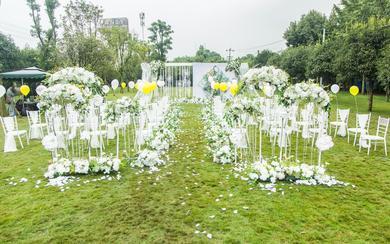 【艺苑花都】白绿色小清新婚礼+四大金刚