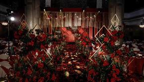 简约优雅 暗红色 高贵格调一价全含送四大送新娘服