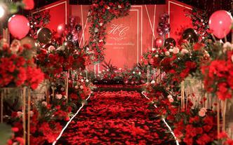 【答案】红色现代简约婚礼