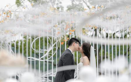 【喜尔婚礼】西子宾馆小清新纯白草坪轻定制婚礼