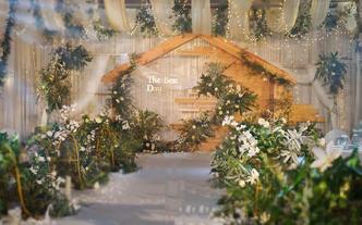 限时5折--白绿唯美浪漫婚礼  包含资深四大金刚