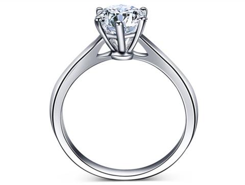 50分美国GIA机构认证经典六爪求婚女戒