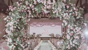 慢—【艾沐婚礼】粉白色清晰婚礼