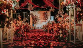 【唯梦婚礼】-黄红色复古婚礼一价全包