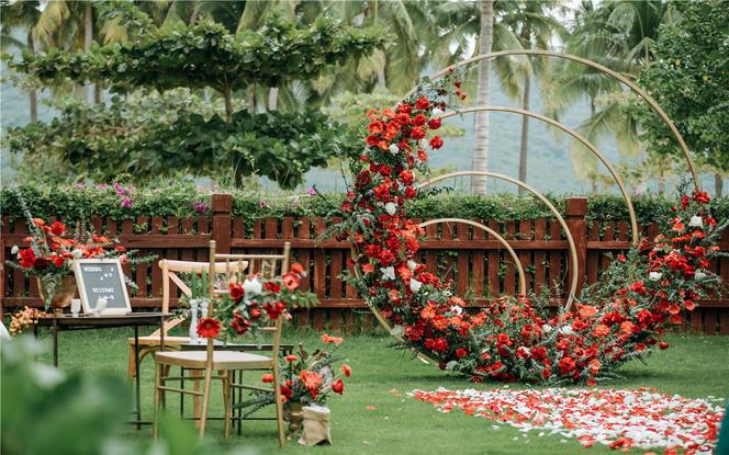 10人海景别墅草坪婚礼,房间+场地一站服务
