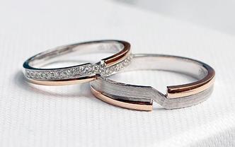 宝富鸿 求婚结婚情侣对戒爱意星河系列