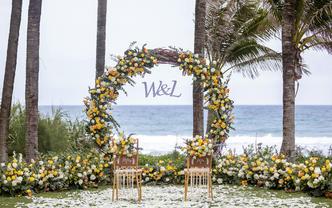 私奔婚禮 三亞海邊草坪婚禮 婚房場地+布置+四大