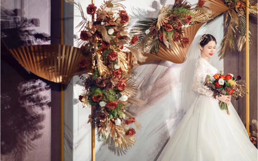 泰式婚礼 焦糖色 室内婚礼