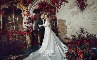 浪漫奢华欧式婚礼 Burgundy Red
