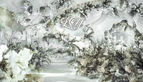 全网经典爆款白绿轻奢婚礼,布景+人员+灯光+花艺